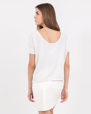 WOMEN - Tira Extended Shoulder Boat Neck Pullover