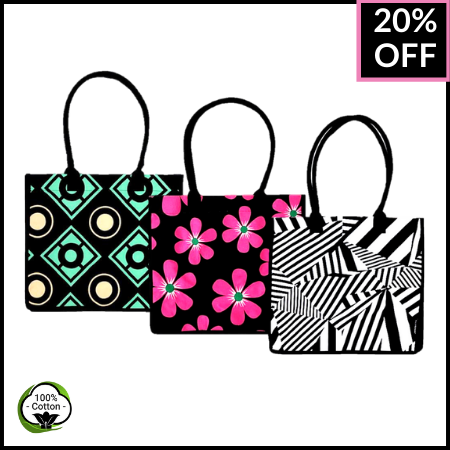 Kazzi Kovers Reusable Shopping Bags | 100% Cotton