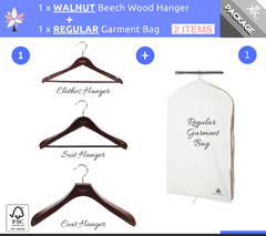Regular-garment-bag-and-walnut-wood-hanger-package-offer