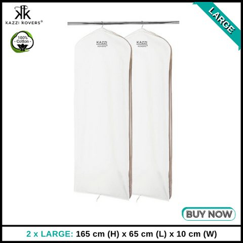 2 x LARGE Garment Bags | 100% Cotton