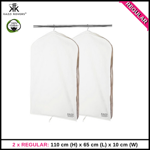 2 x REGULAR Garment Bags