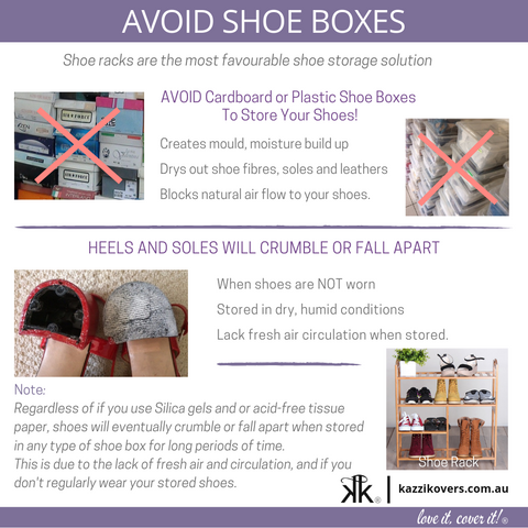 Avoid Shoe Storage Boxes