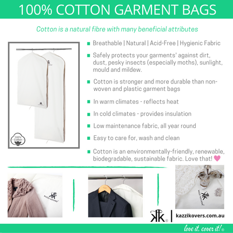 Benefits of 100% Cotton Garment Bags