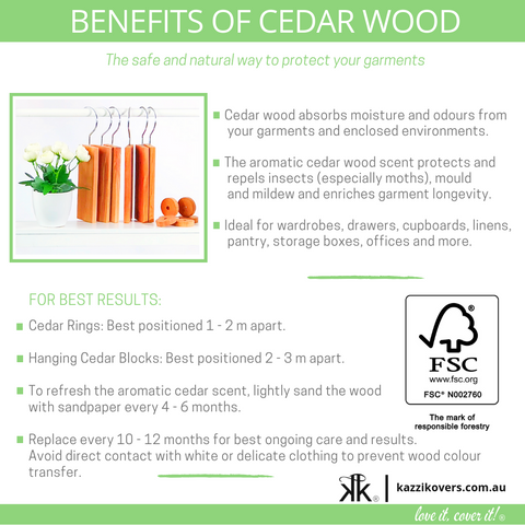 Benefits of Cedar Blocks and Cedar Rings