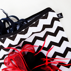 Chevron print fascinator cotton bag