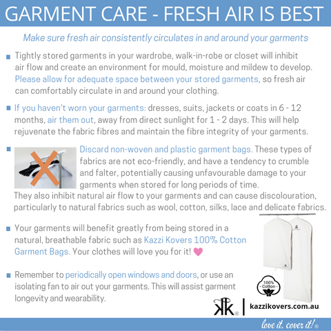 Garment Care - Fresh Air is Best