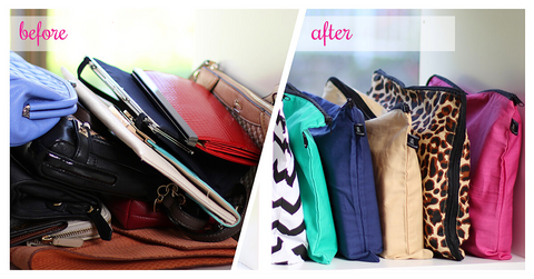 How to store your handbags and clutches | Before and After