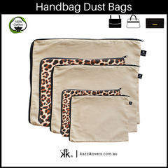 Latte Love + Leopard Print | Dust Bags for Handbags