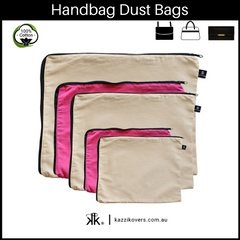 Latte Love + Fuchsia Pink | Dust Bags for Handbags