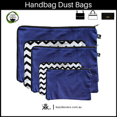 Midnight Blue and Getting Ziggy (Chevron) | Dust Bags for Handbags