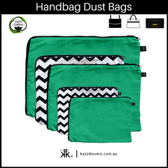 Green Envy and Getting Ziggy (Chevron) | Dust Bags for Handbags