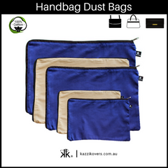 Midnight Blue and Latte Love | Dust Bags for Handbags
