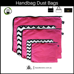 Fuchsia Pink and Getting Ziggy (Chevron) | Dust Bags for Handbags