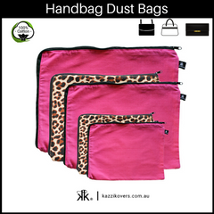 Fuchsia Pink + Leopard Print | Dust Bags for Handbags