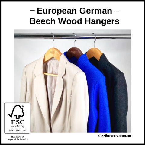 European German Beech Wood Suit Hangers