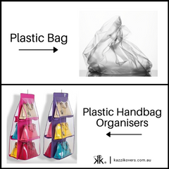 Plastic bag and plastic handbag organiser
