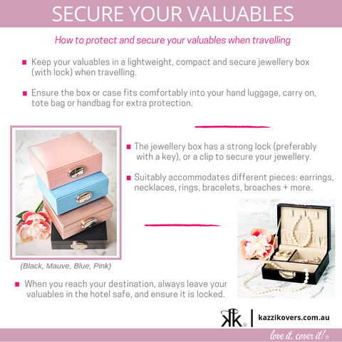 Secure your jewellery when travelling