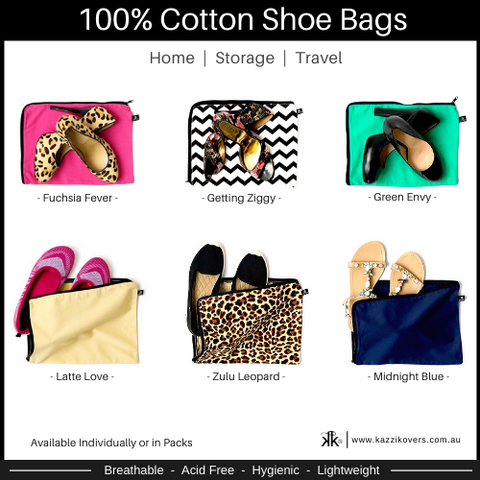 Different Colours and Prints Shoe Dust Bags | 100% Cotton