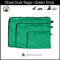 Green Envy | 100% Cotton Shoe Bags