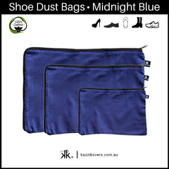 Midnight Blue | 100% Cotton Shoe Bags
