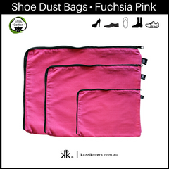 Fuchsia Fever | 100% Cotton Shoe Bags