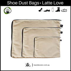 Latte Love | 100% Cotton Shoe Bags