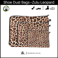 Zulu Leopard | 100% Cotton Shoe Bags