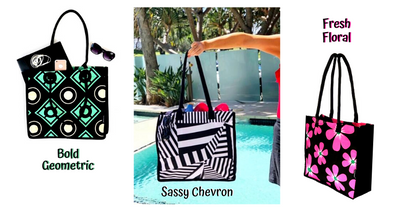 SHOPPING . BEACH . TOTE