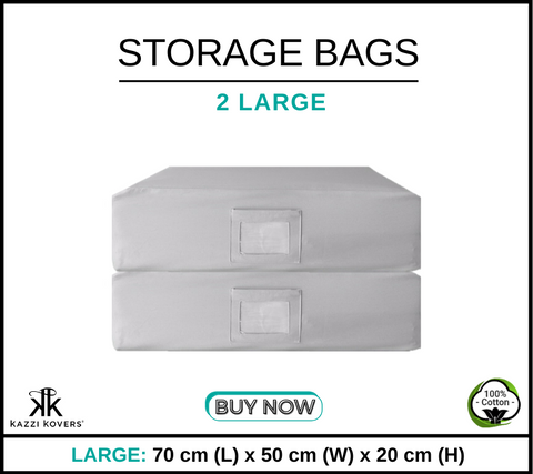 2 LARGE Cotton Storage Bags