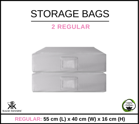 2 REGULAR | Cotton Storage Bags
