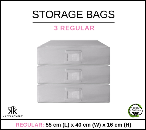 3 REGULAR | Cotton Storage Bags