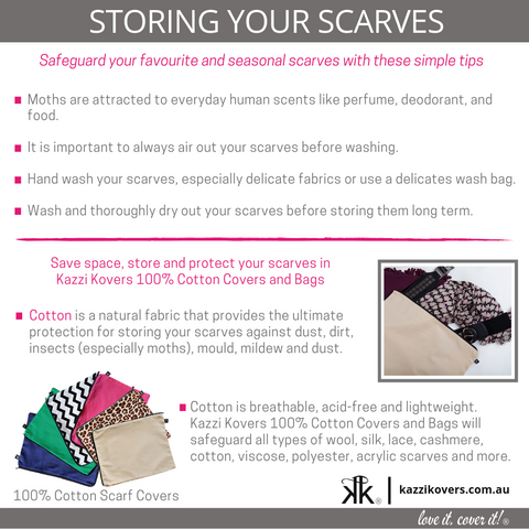 Storing your scarves