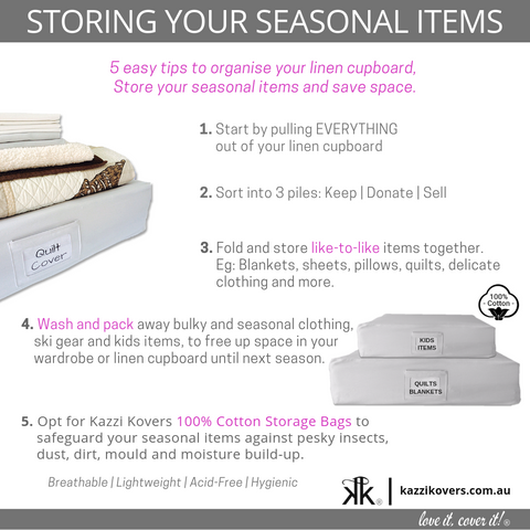 Storing your seasonal items