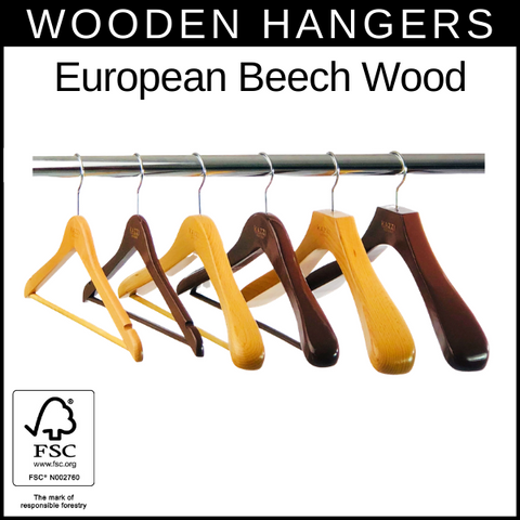 European German Beech Wood Hangers
