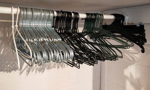 Wire and plastic hangers