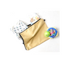 Beige fully zipped baby bag for clothes, nappies and accessories