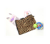 Baby bag for clothes, shoes, nappies and toys in leopard print cotton bag