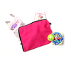 100% cotton pink baby bag for clothes, shoes, nappies and more