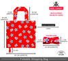 Size chart | Foldable shopping bags in beach print