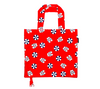 Bright red, white and blue beach print foldable bag