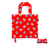 Folded and unfolded beach print shopping bag