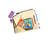 Library books, pencils and accessories bag