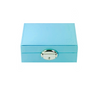Oval lock on blue jewellery box to secure your valuables
