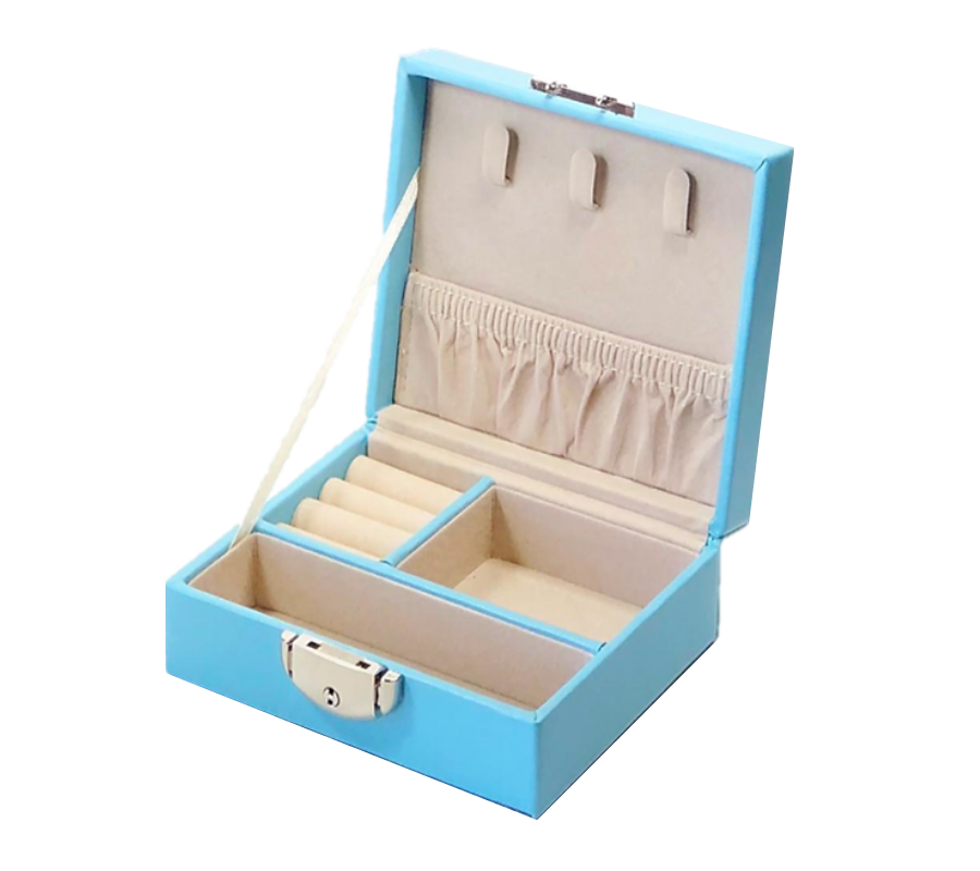 Jewellery box with lock | Blue