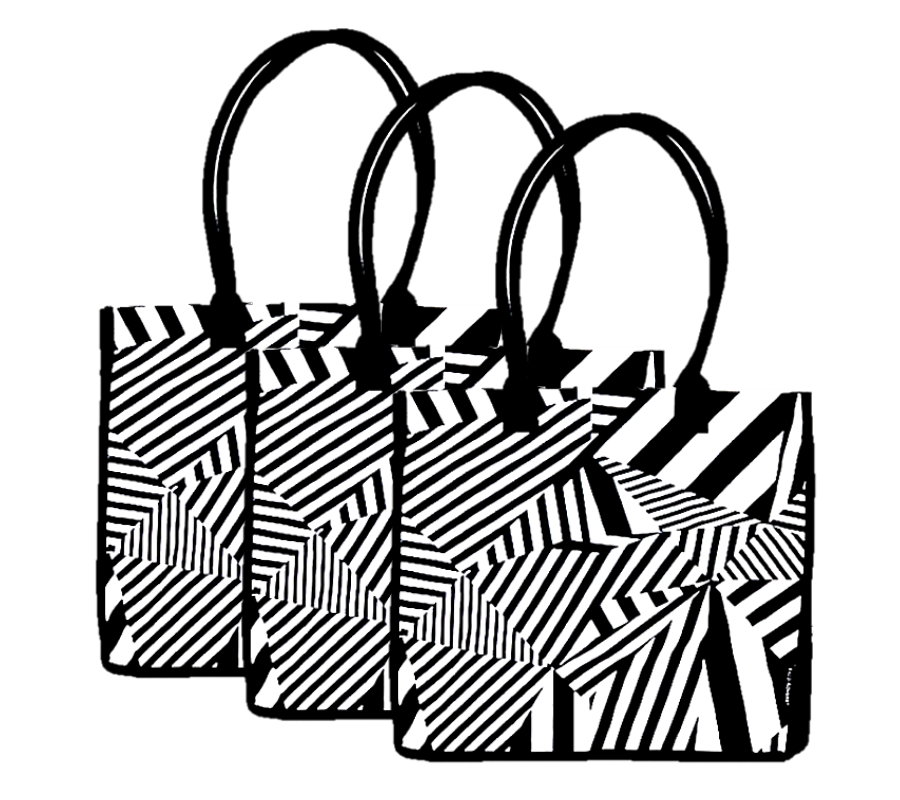 3 Pack Sassy Chevron Shopping Bags | 100% Cotton