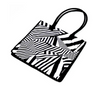 Large chevron print shopping bag