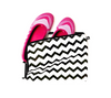 Shoe bag for casual or sports shoes in chevron print. 100% cotton.