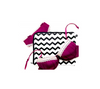 Breathable 100% Cotton lingerie bags in zig zag (chevron) print.