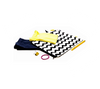 Kid's clothes, shoes and accessories in black and white zigzag bag