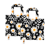 Foldable Reusable Shopping Bags | 2 x Daisy Print